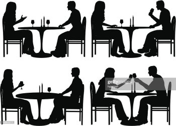 silhouette dining vector restaurant graphics gettyimages