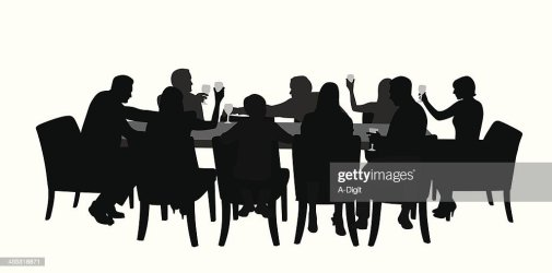 vector silhouette dining together table clipart clip cartoons diner mesa eettafel illustrations comedor ilustraciones stockillustraties illustraties gettyimages embed graphic