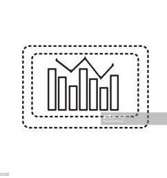 dotted shape computer with statistics diagram bar stock illustration [ 1024 x 1024 Pixel ]