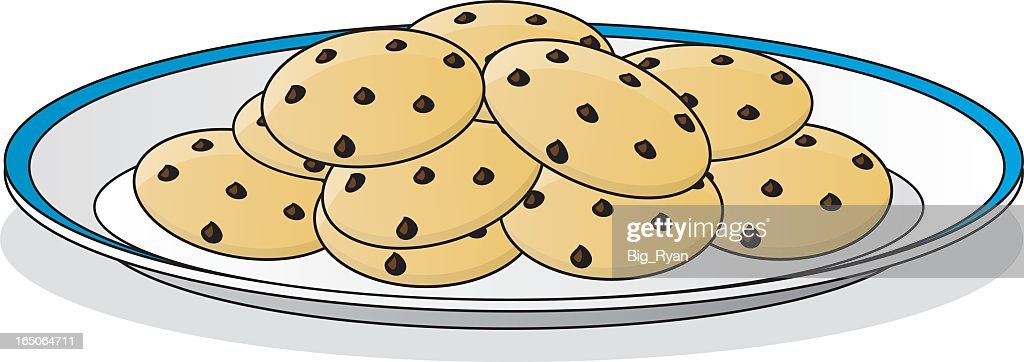 chocolate chip cookie stock illustrations