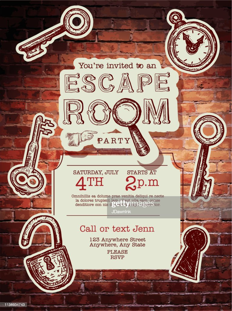 https www gettyimages com detail illustration escape room birthday party celebration royalty free illustration 1138934743