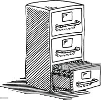 Filing Cabinet Drawing Vector Art | Getty Images