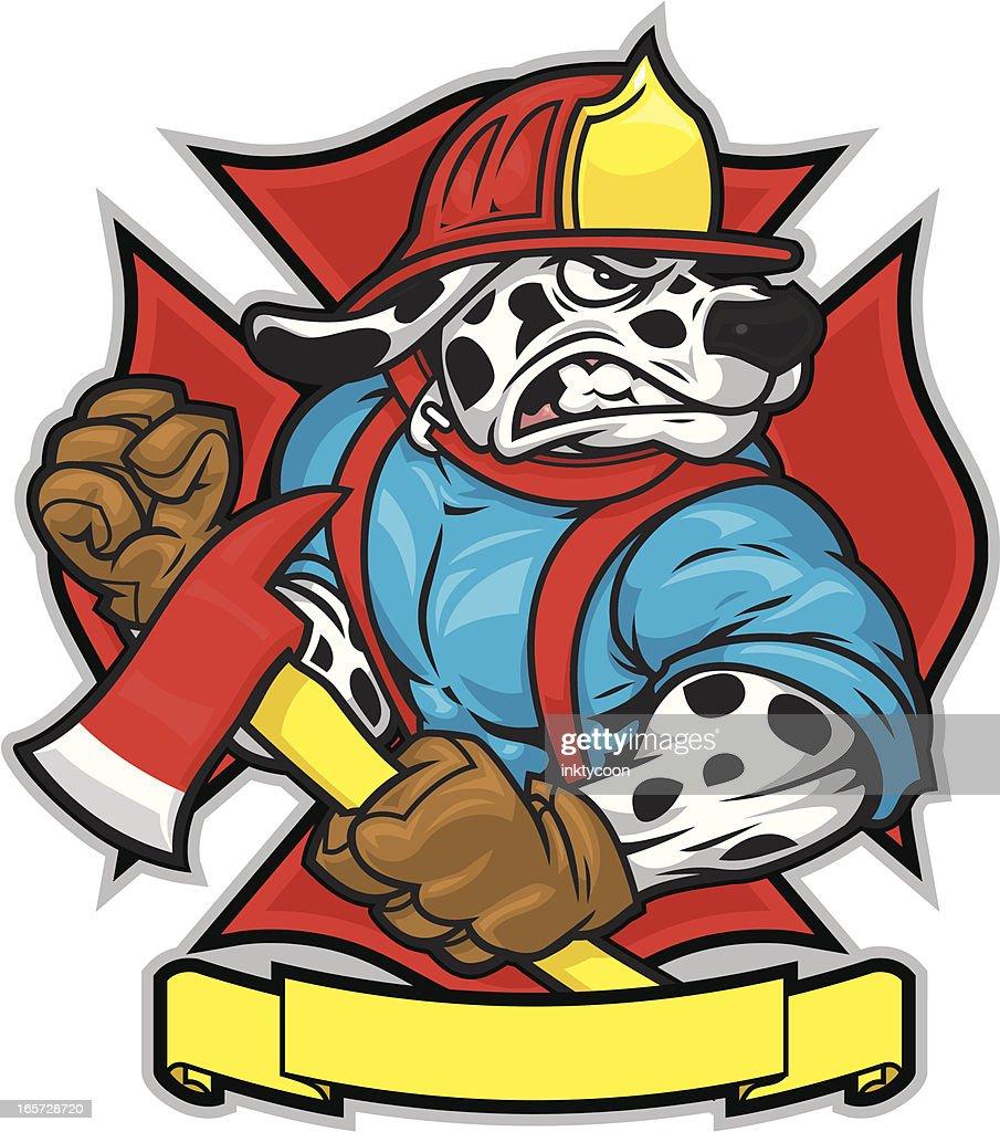 medium resolution of firefighter dog