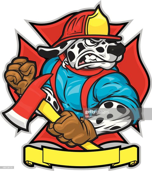 small resolution of firefighter dog