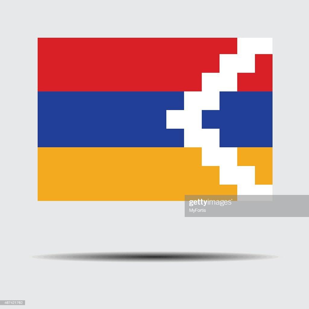 flag of nagornokarabakh stock