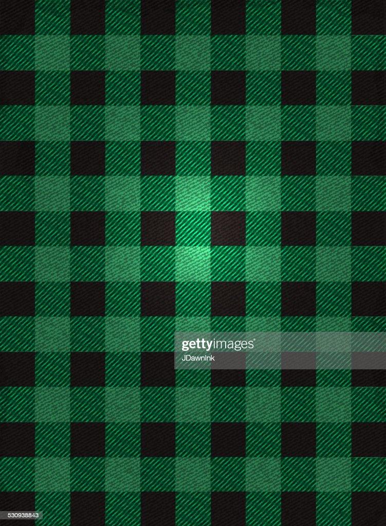 Black Plaid Wallpaper Flannel Background Design Green And Black Check Vector Art