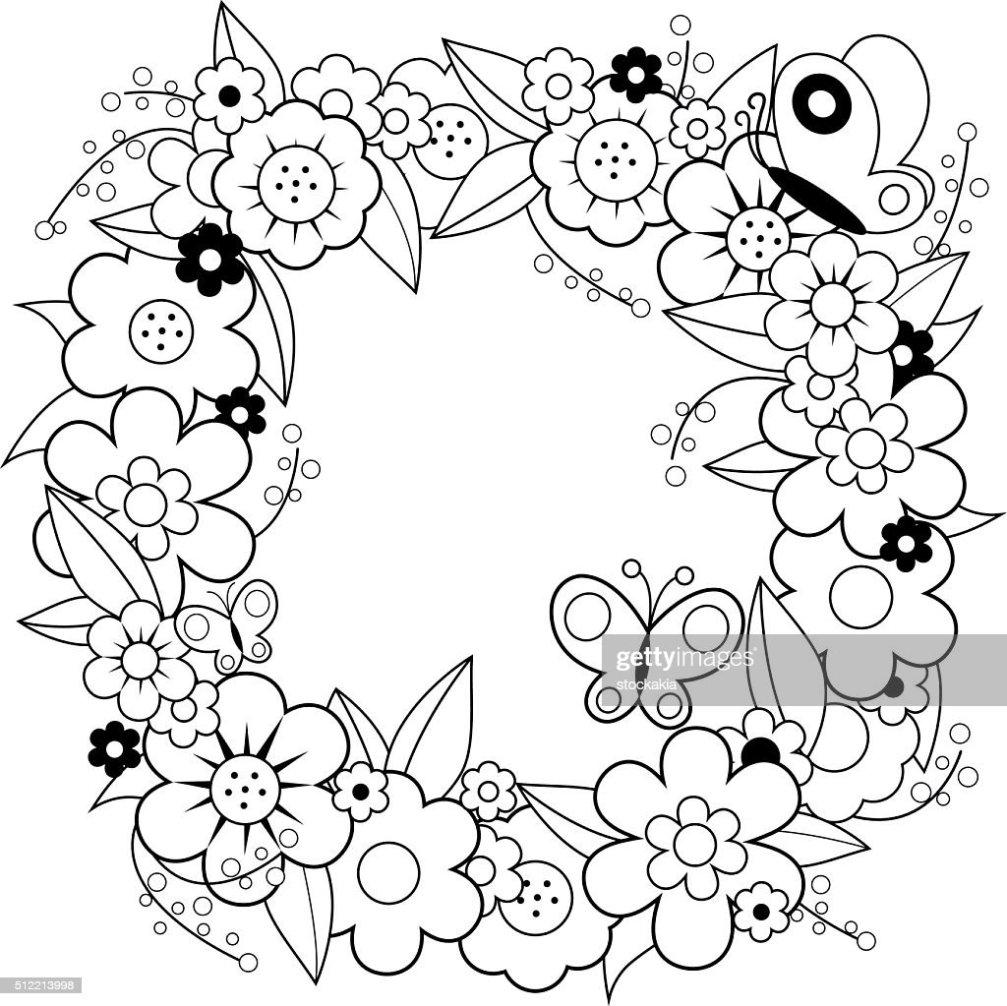 Blumenkranz Zum Ausmalen
