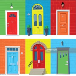 446 Front Door High Res Illustrations Getty Images