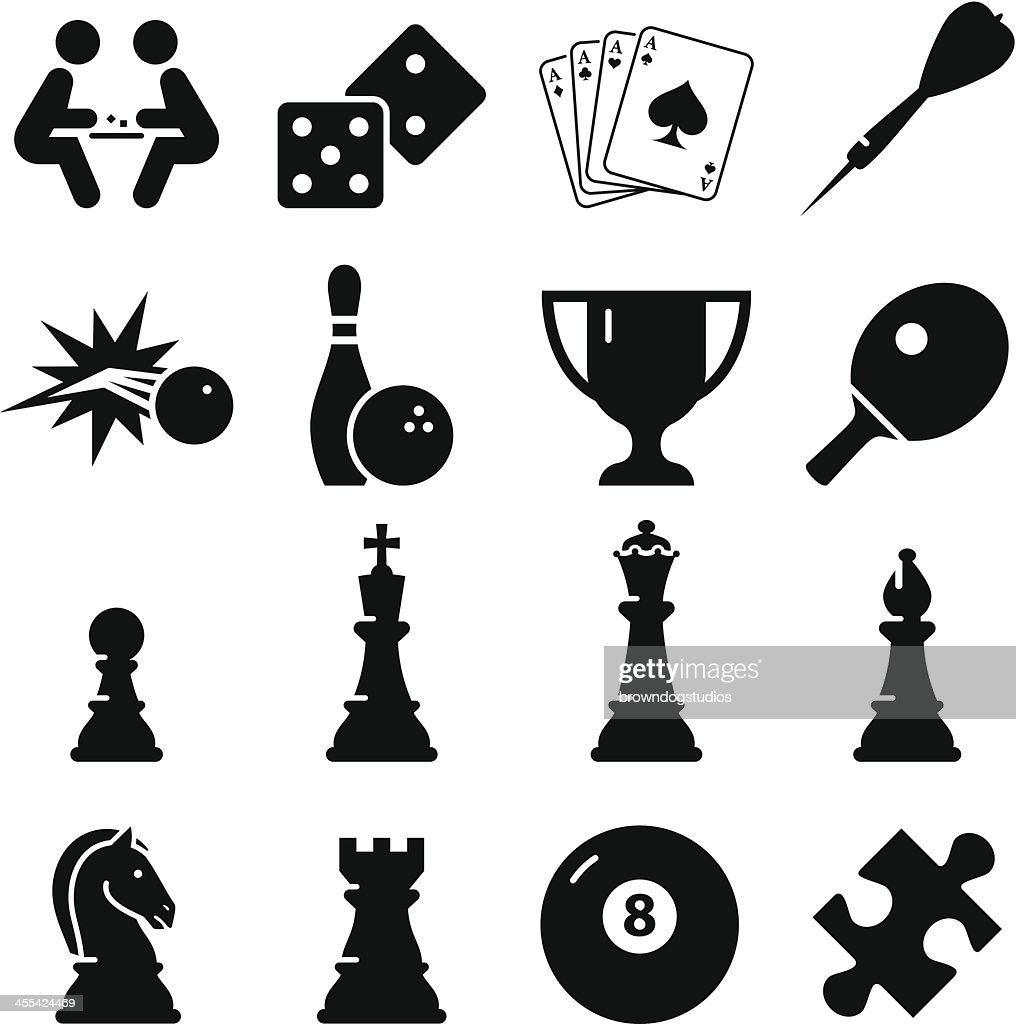 Game Icons Black Series High Res Vector Graphic Getty Images