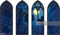 Gothic Windows Vector Art | Getty Images