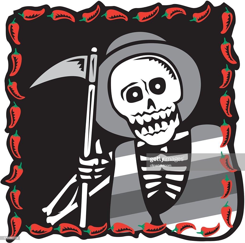 hight resolution of grim reaper vector art