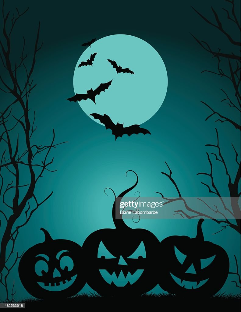 Halloween Party Background Template : Vector Art