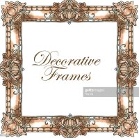 Hand Made Vector Sketch Of Ornate Frames Vector Art ...