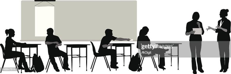 vector silhouette teacher clip highschool illustrations
