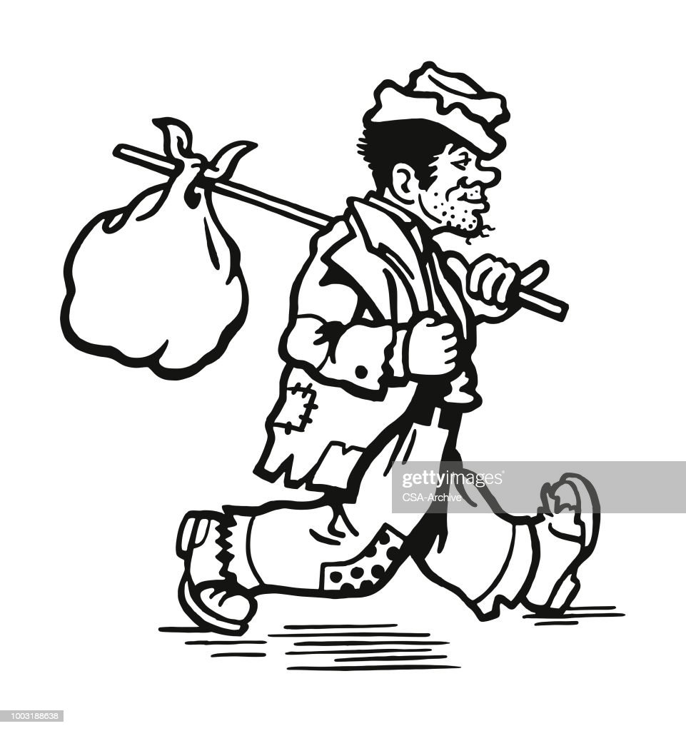 Top Homeless Person Stock Illustrations Clip art
