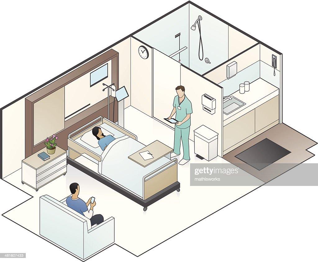 Hospital Room Illustration Vector Art Getty Images