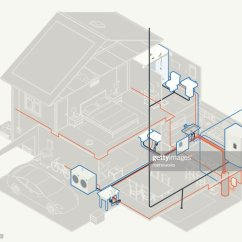 Attic Plumbing Diagram White Rodgers 90 290q Relay Wiring House Vector Art Getty Images