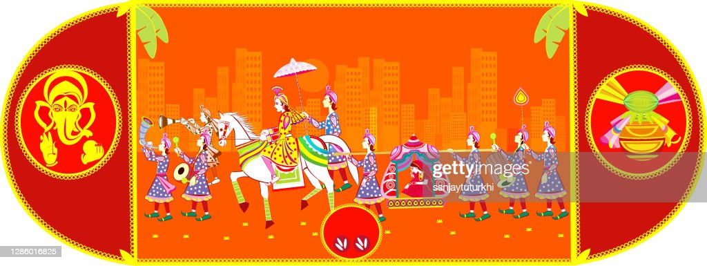 300 indian wedding high res illustrations getty images