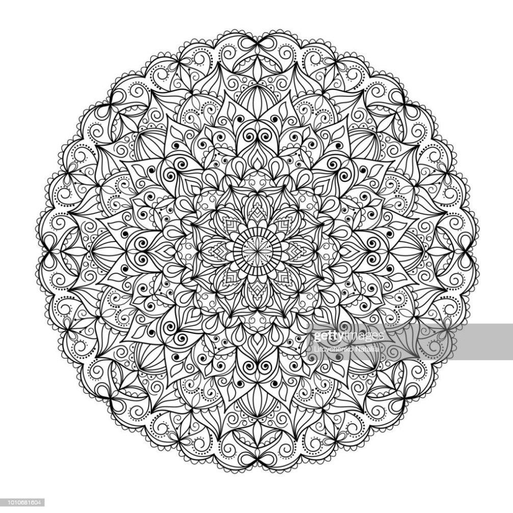 Adornos De Mandala Aislado Diseño De Tarjetas De Felicitación