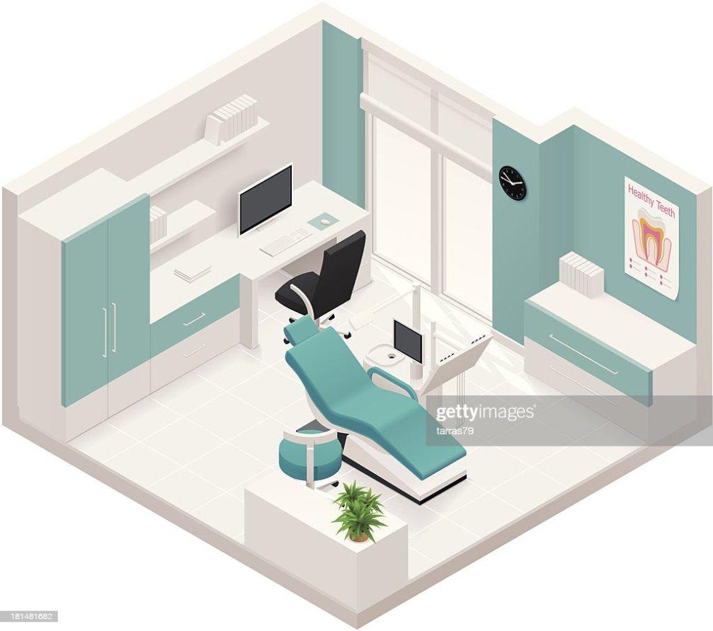 Icne Isomtrique De La Clinique Dentaire Clipart