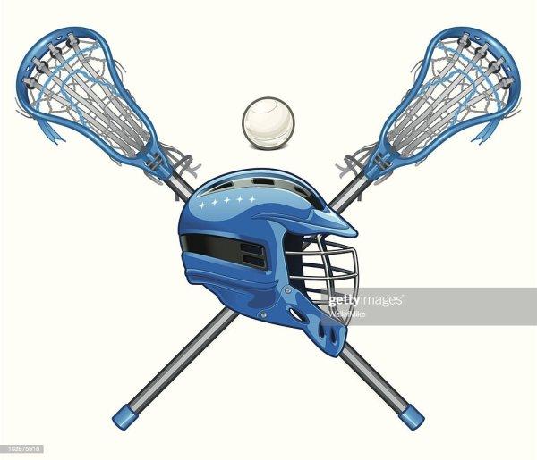 Lacrosse Sticks And Helmet Vector Art Getty