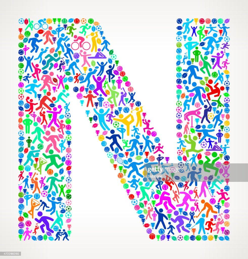 medium resolution of lettre n fitness sports et motif de fond vecteur de sport clipart vectoriel