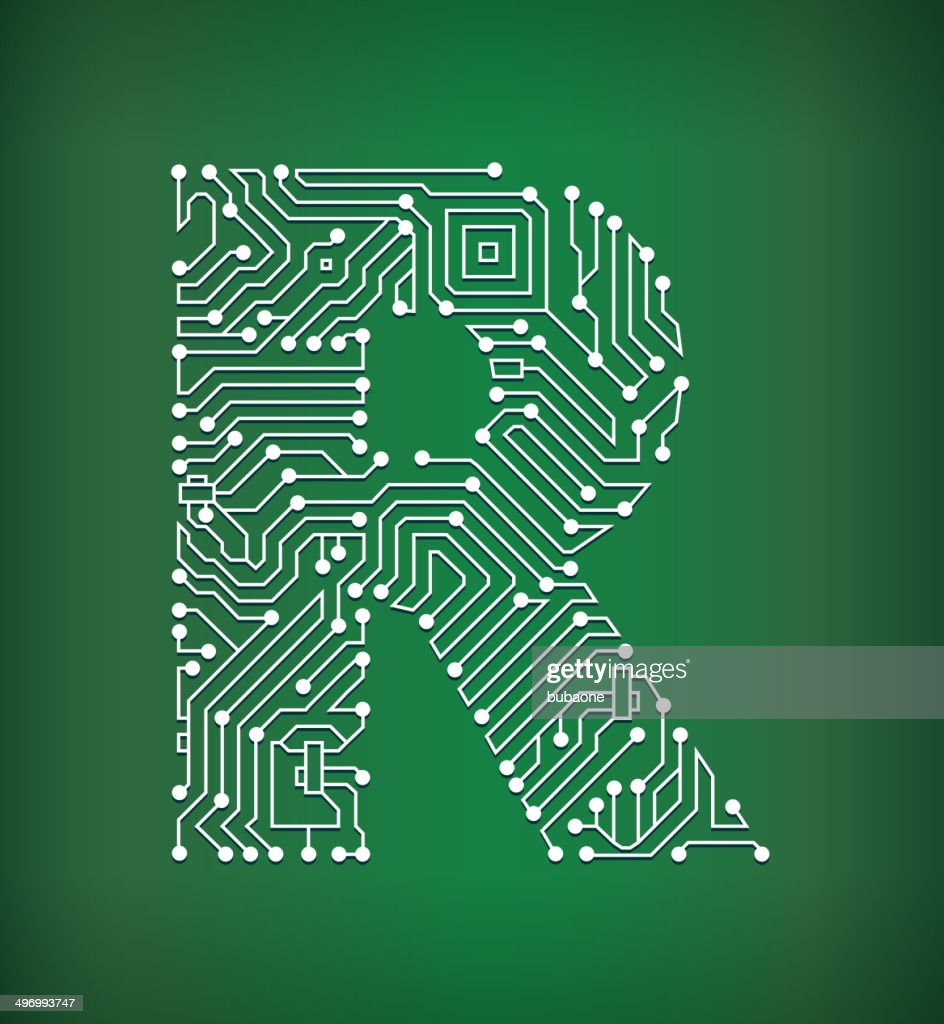 Vector Circuit Board In Perspective Stock Vector