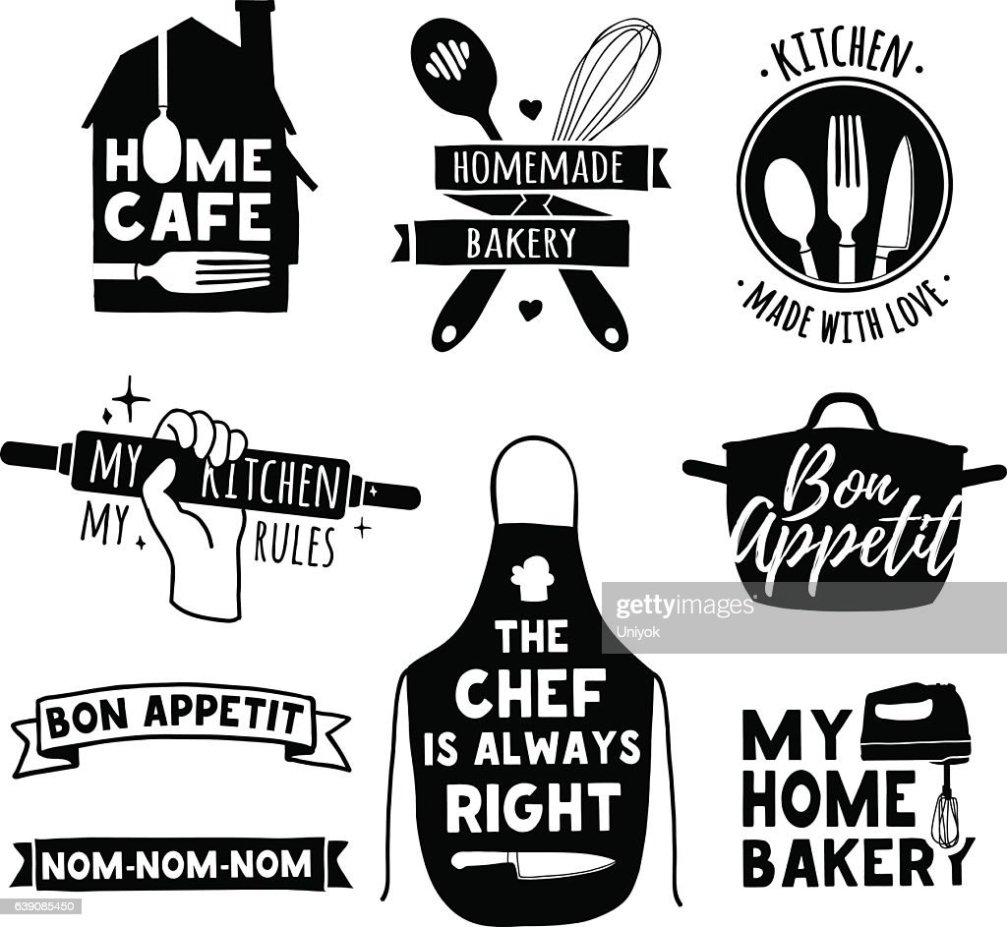 Logo For Bakery Shop Cooking Club Cafe Food Studio Stock Vector