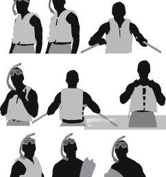 homme dans un masque et tuba clipart vectoriel [ 833 x 1024 Pixel ]