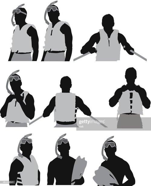 small resolution of homme dans un masque et tuba clipart vectoriel