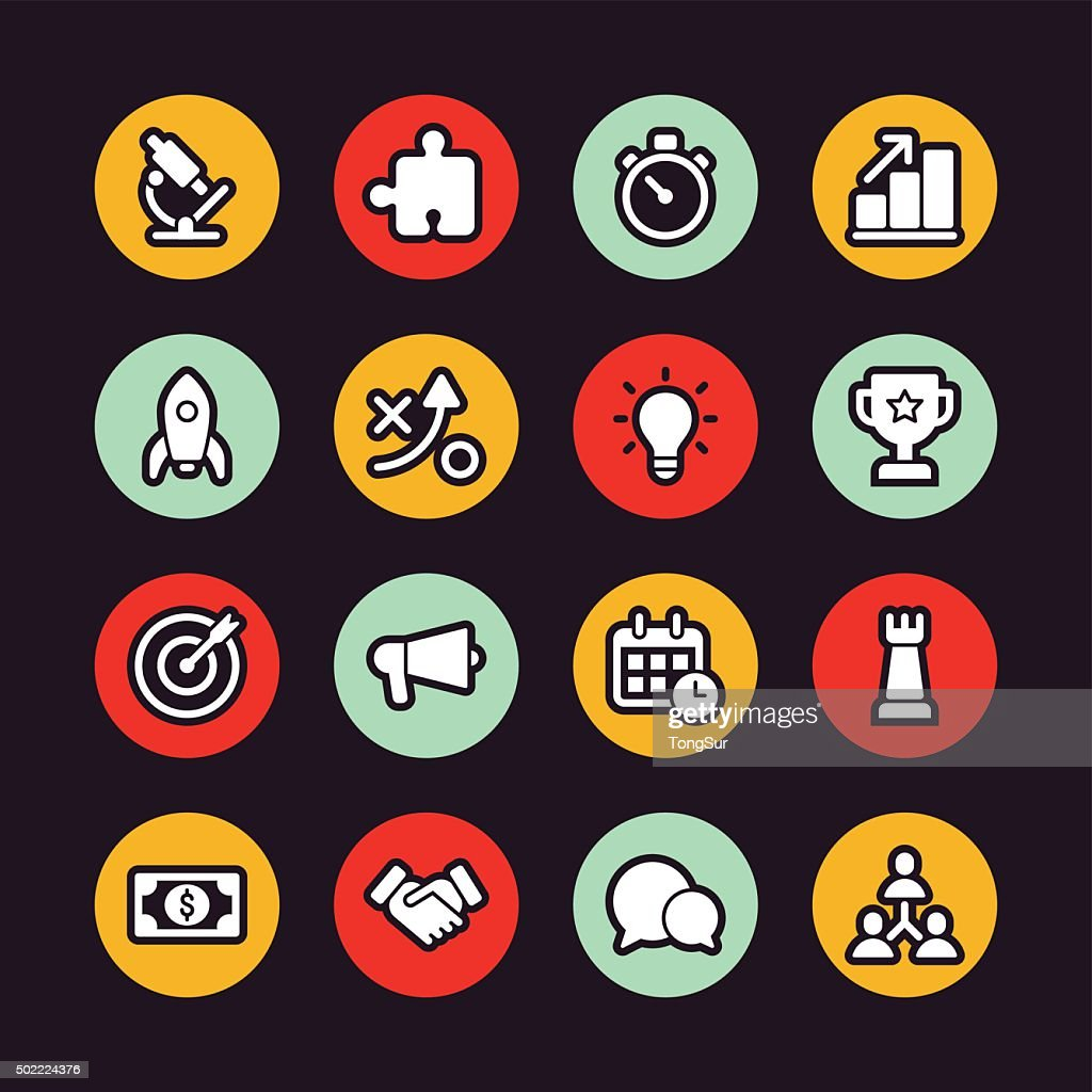 Marketing Icons Regular Outline Circle High-Res Vector Graphic - Getty Images