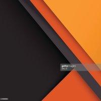 Material Design Wallpaper Gray Orange Vector Art | Thinkstock