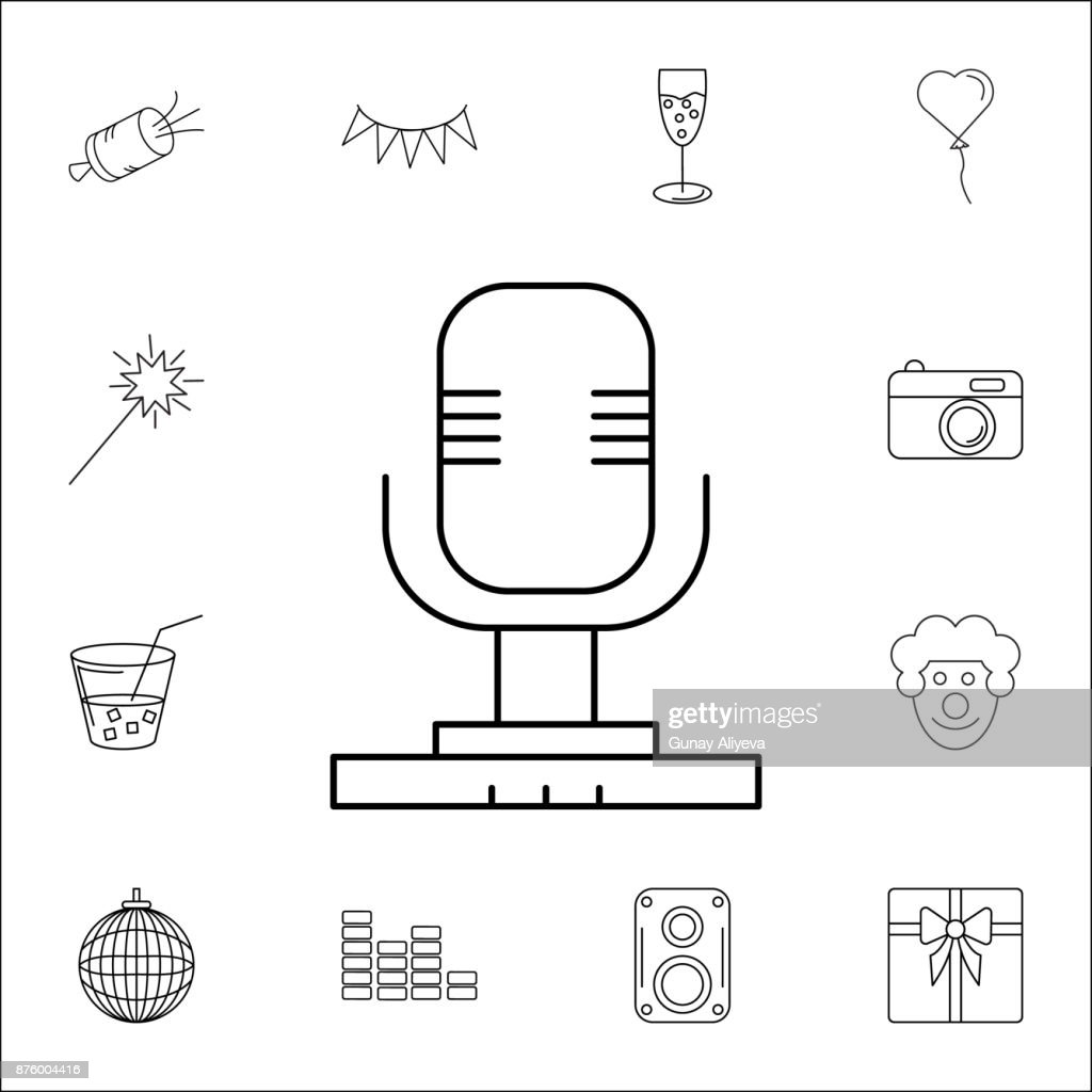 hight resolution of diagram symbools of microphone wiring librarymicrophone icon set of party icons signs outline symbols collection