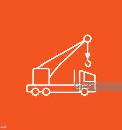 mobile crane line icon stock vector [ 1024 x 1024 Pixel ]