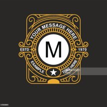 Modern Emblem Badge Monogram Template Luxury Elegant Frame