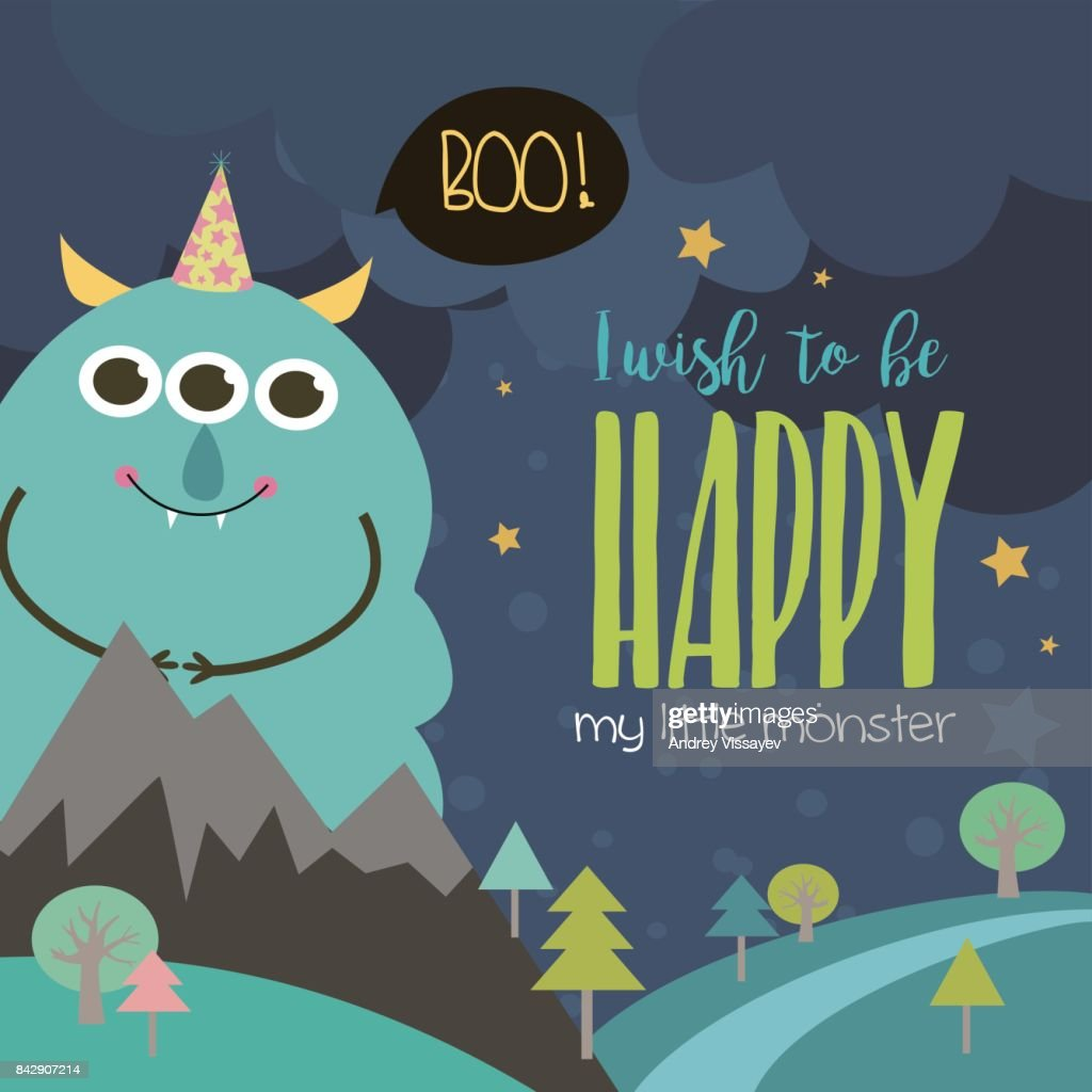 https www gettyimages com detail illustration monster birthday party invitation card royalty free illustration 842907214