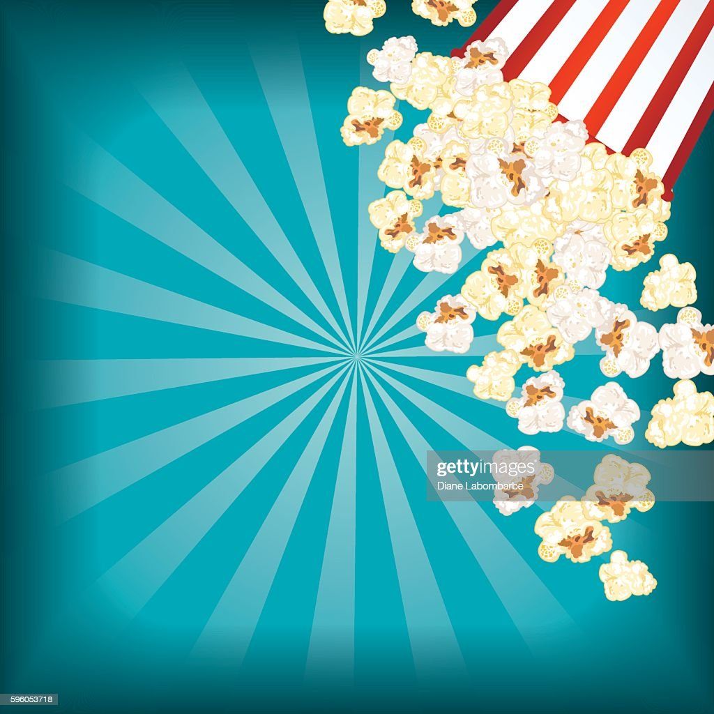 Movie Night Background With Popcorn Vector Art  Getty Images