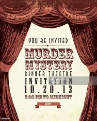 Murder Mystery Dinner Theatre Invitation Template Vintage ...