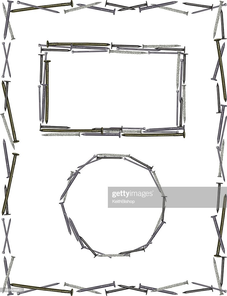 hight resolution of nail frame construction background stock illustration