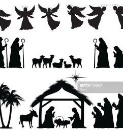 nativity silhouette [ 1024 x 823 Pixel ]