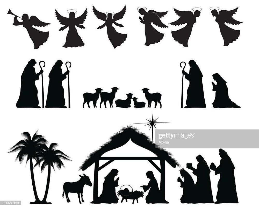 medium resolution of nativity silhouette