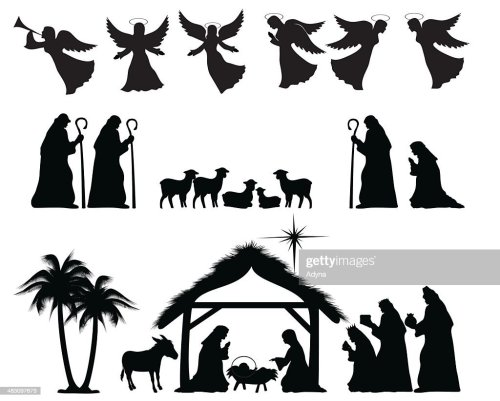 small resolution of nativity silhouette