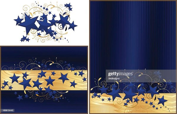 navy blue and gold stars background