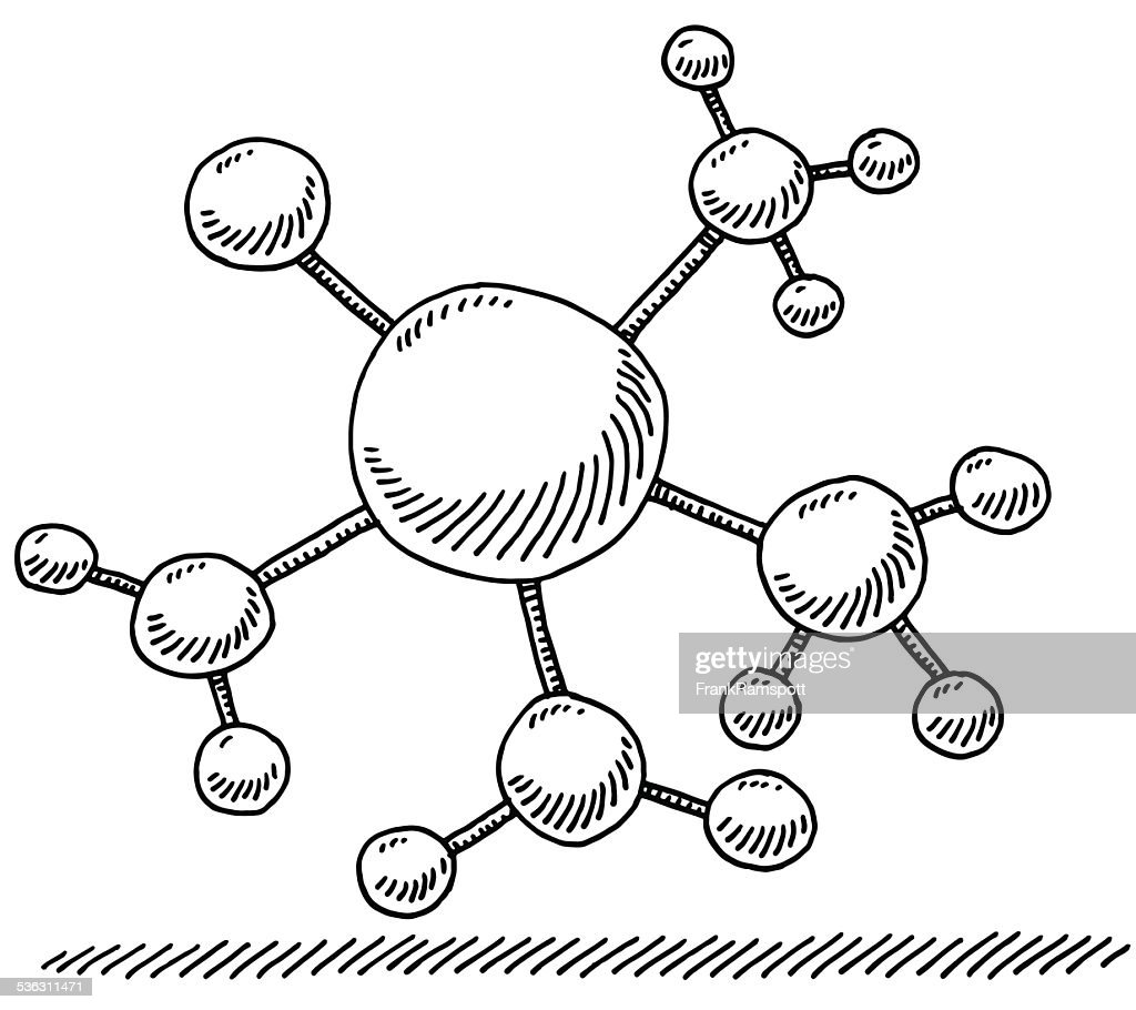 Network Branch Connection Symbol Drawing stock