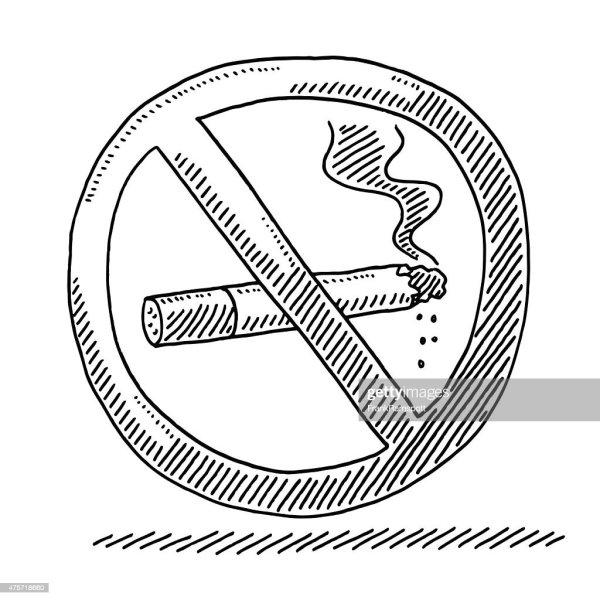 Smoking Warning Sign Drawing Vector Art Getty