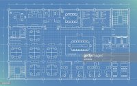 Office Building Plan Blueprint Vector Art | Getty Images