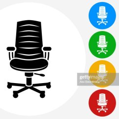 Office Chair Illustration Yellow Bedroom Uk Stock Illustrations And Cartoons Icon On Flat Color Circle Buttons