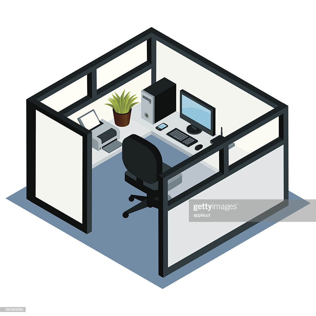 cubicle stock illustrations