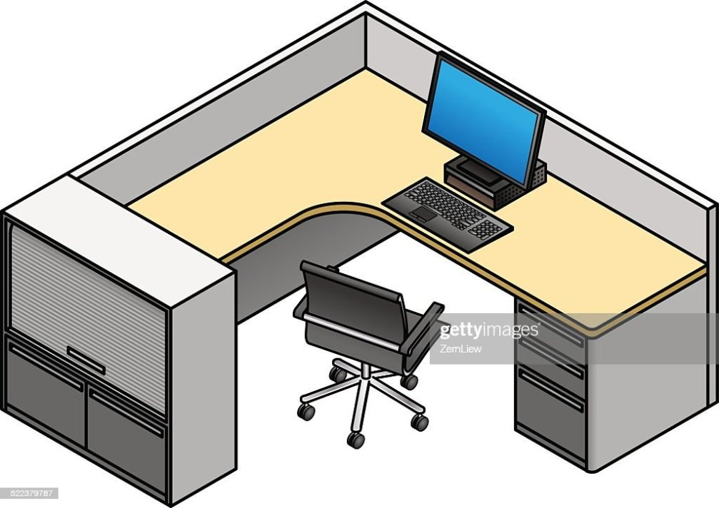 office cubicle vector art thinkstock
