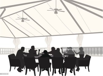 outdoor restaurant silhouette vector dining table dinner clip illustrations cartoons clipart gettyimages vectors graphics